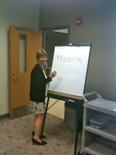 April M. Williams teaches a Facebook for Business class at Shah Center