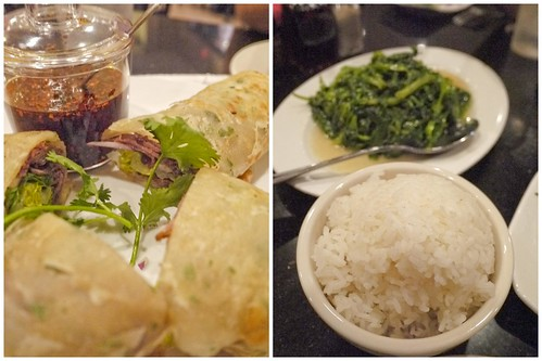 beef roll and rice