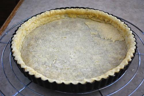 pre-baked, ugly tart shell
