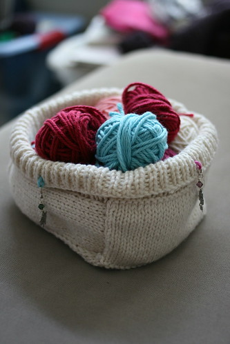 knitted basket from LMKG 2