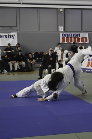Herac throwing for ippon to get into the final