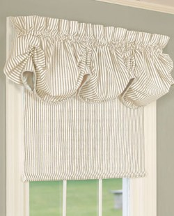 ticking stripe shade country curtains