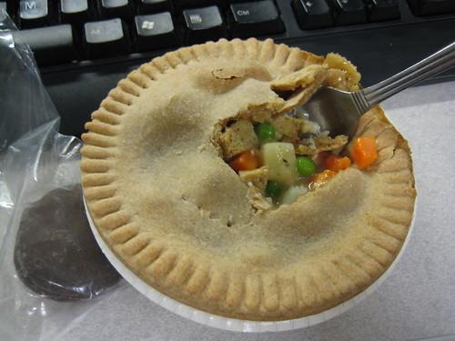oreos, amy's vegetable pot pie