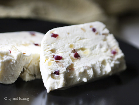Ginger, Almond, and Cranberry Semifreddo