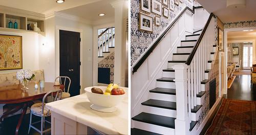Kristen Panitch wallpaper stairwell