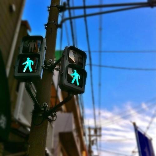 信号に注目ーーー! ちと変わってない? #afternoon