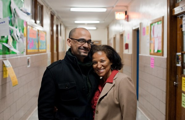 Junot Diaz and Principal Santana: Greenpoint Brooklyn