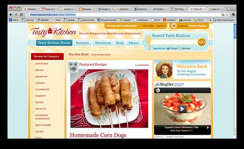 Front page feature on Tasty Kitchen