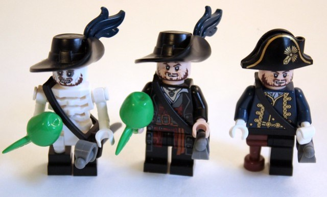 The three Barbossa's Currently Available in the Line