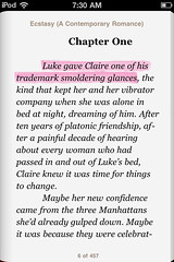 iBooks for iPhone: pink highlight