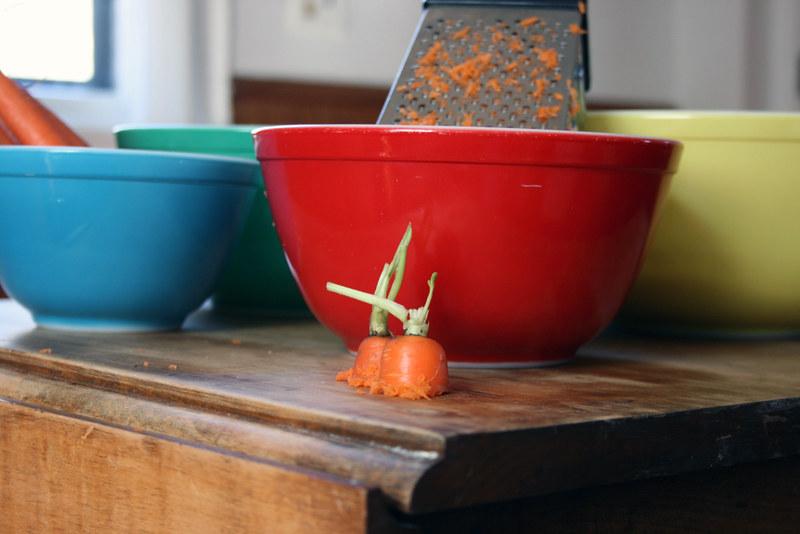 carrots, bowls