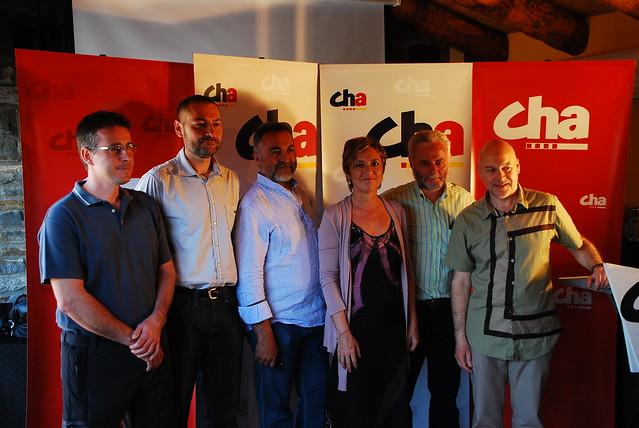 Presentación de candidaturas de CHA en el Sobrarbe