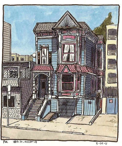 sketchcrawl 31 blue house