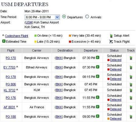 28.03.2011 Koh Samui Airport Flight Delay