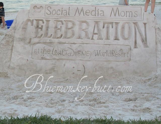 Disney Social Media Moms Sand Sculpture