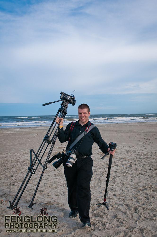 Behind the Scenes - Zachary Long at Tybee Island for KyAnne & Brett's Wedding | Atlanta Wedding Photographer