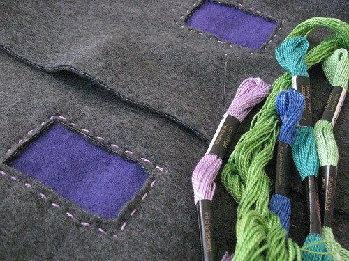 vest - applique wip