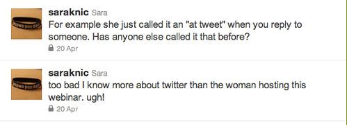 twitter webinar tweets