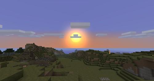 Minecraft - Sun Rising