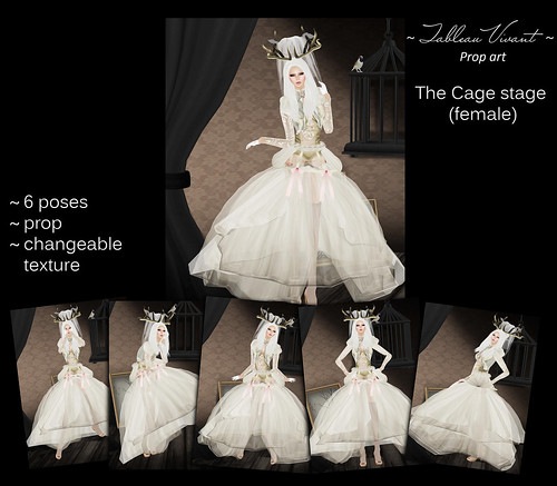 ~Tableau Vivant~ Prop Art ~ The Cage stage (female)
