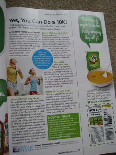 Health magazine 10k article