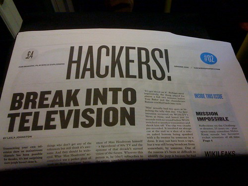 reading hackers! on the train