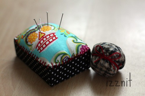 Box and Bottle Cap Pincushion