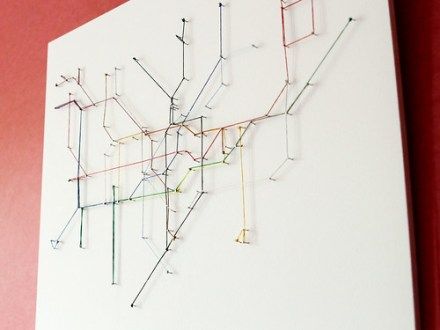 Fun Project  Make Your Own Tube Map out of String   Londontopia String map 2