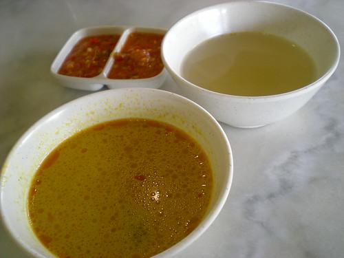 ThaiChickenRice soup & curry gravy