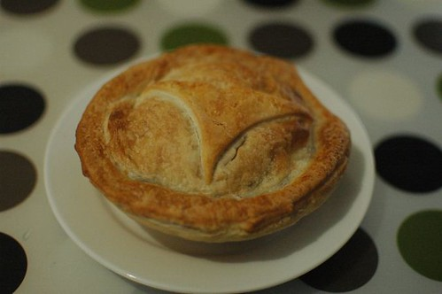 Chicken and mushroom pie