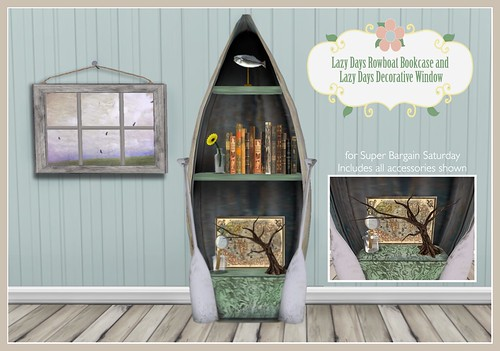 Lazy Days Rowboat Bookcase & accessories