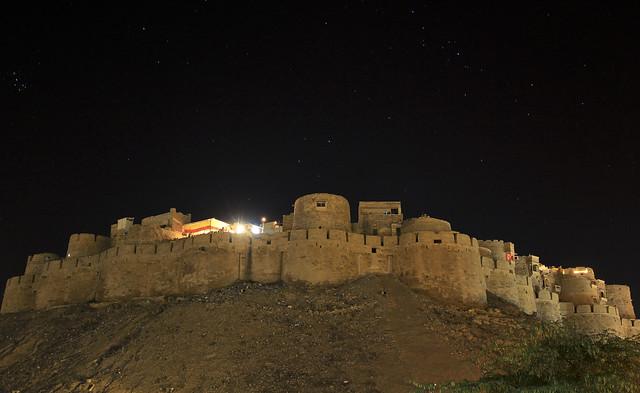 fort at night