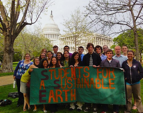WMU's Students for a Sustainable Earth in front of the Capitol by ssewmu