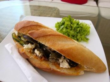 Vegetarian baguette