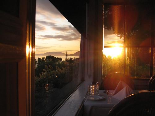 nice dinner view
