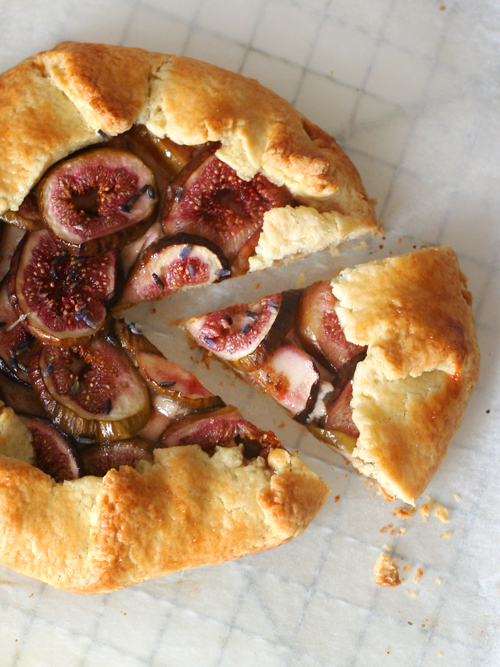 honeyed ricotta, fig & lavender galette