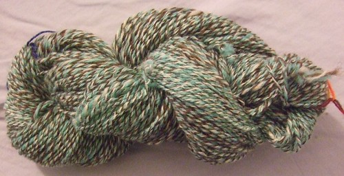 fine green 3-ply handspun