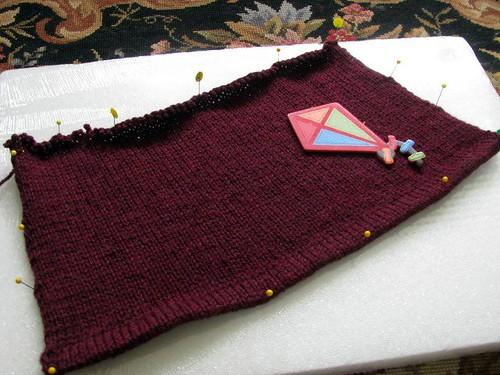 Estela Cardigan Swatch Test Knit