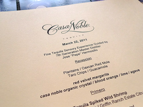 Casa Noble Dinner at Akasha