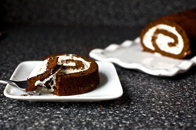 chocolate cake roll, yodel/ho-ho style