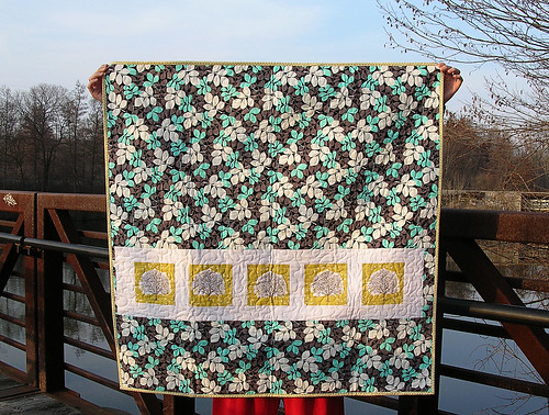 Back of the modern meadow quilt