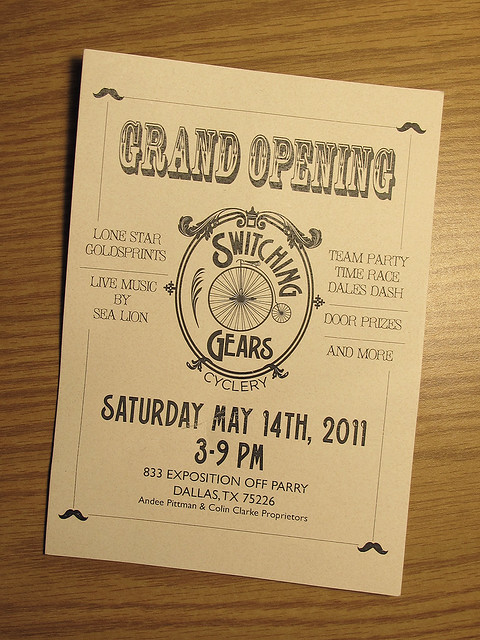 GRAND OPENING - Switching Gears Cyclery - Dallas, Texas