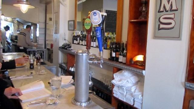 the bar at pearl oyster bar
