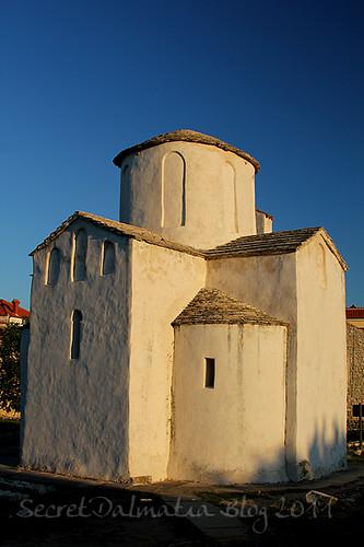 First sun rays on the church