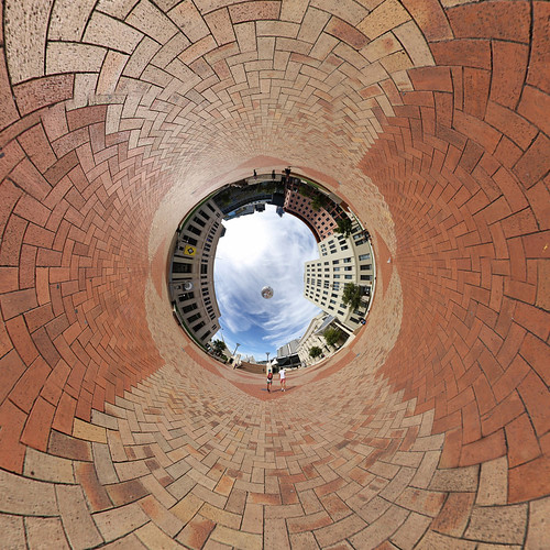 Civic Square Wellington - Little planet