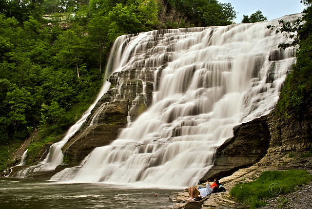 Ithaca Falls relaxation
