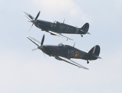 Spitfire and Hurricane from the BBMF