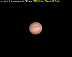 Jupiter with Io and Shadow Transit