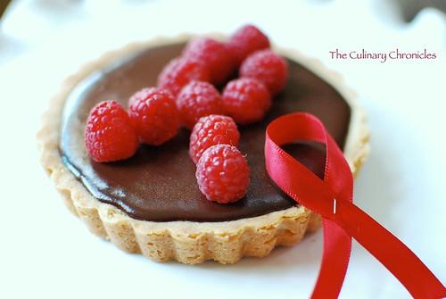 "Chocolate Raspberry Tart inspired by ""World AIDS Day"""