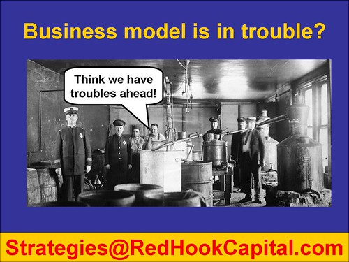 CARTOON Troulbe Business Model